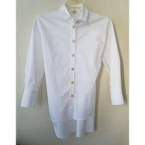 River Island women's white button down shirt sz 8